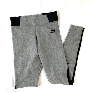 Nike Grey and Black Workout Pants Size Small